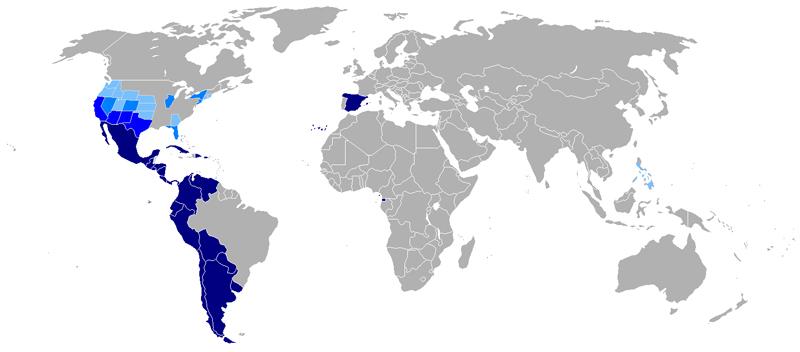 Tiếng Tây Ban Nha được sử dụng nhiều thứ 2 thế giới